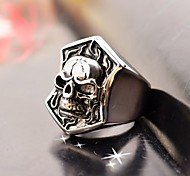 Vintage  Men's Skull Stainless Steel Peltate Ring