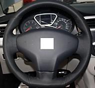 XuJi ™ Black Genuine Leather Steering Wheel Cover for Citroen Elysee New Elysee c-elysee 2014
