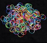 baoguang®600pcs color del arco iris telar tres bandas caucho color telar moda (1pcs ganchillo, 24pcs gancho)