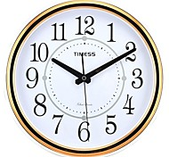 "Timess™ 11""H  Circles Rose Gold Plating Super Mute Wall Clock"
