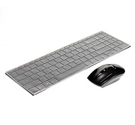 HK3900 Wireless 2.4G Mouse(1000DPI) Metal Waterproof Wireless 2.4G Keyboard