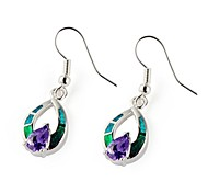 Drop EarringsJewelry Birthstones Silver Silver Plated Party / Daily / Casual
