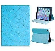 Paillettes imprimé floral simili-cuir de cas de chiquenaude corps entier avec support pour iPad Air (couleurs assorties)