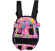 Pet Dog Canvas Backpack   Pink   Black