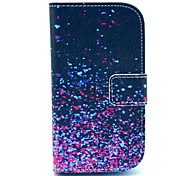 Diamond Fragment Pattern PU Leather Case with Card Slot and Stand for Samsung Galaxy S3 mini I8190