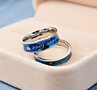 Korean Style Forever Love Titanium Steel Couple Rings