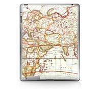 Patrón Mapa Pegatina protectora para el iPad 1/2/3/4