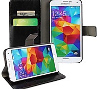 Solid Color wallet Style Full Body Case for Samsung Galaxy S5 I9600 (Assorted Color)
