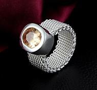 Hochzeits-Geschenk weißes Gold überzog Zircon-Ring