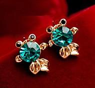 Z&X®  Fashion Luxury Cute Little Goldfish Crystal Stud Earrings
