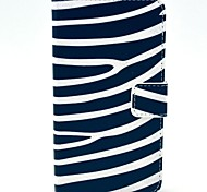 Zebra полосы шаблон PU кожаный жесткий чехол с подставкой и Гнезда для платы для HTC Desire 310