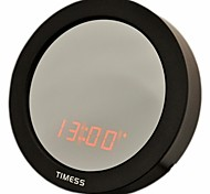 Timess™  Round Shape  LED Voice-activate Calendar SNOOZ Mirror Alarm Clock