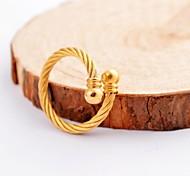 Mode Damen Gold Buckle Kabel Stainles Steel Rings