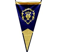World of Warcraft Alliance Triangular Bandeira Cosplay
