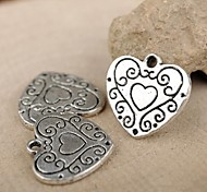 Eruner®15*15MM Alloy Heart Charms Pendants Jewelry DIY (10PCS)
