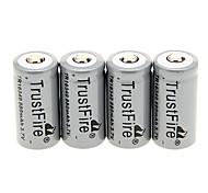 TrustFire TR 16340 880mAh batteria (4 pezzi)
