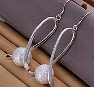 Earring Stud Earrings Jewelry Women Silver / Brass 2pcs Silver