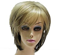 Capless Synthetic Mixed Color Short Straight Synthetic Wigs