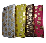 Linda Pattern Gold Point PU Leather Case Full Body com suporte para iPhone 5 (cores sortidas)