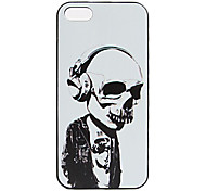Per Custodia iPhone 5 Fantasia/disegno Custodia Custodia posteriore Custodia Teschio Resistente PC iPhone SE/5s/5