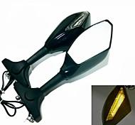 Turn LED Señales Espejos Integrado para la motocicleta Suzuki Katana GSXR 600 750 1000 Hayabusa