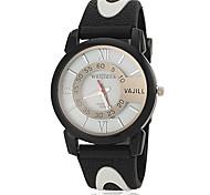 Mode PU bande de montre bracelet à quartz pour hommes (assorties couleurs)