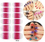 28PCS Glitter Gradient Ramp Nail Art Stickers M Series NO.103