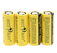 SKYRAY SR 6000mAh 26650 Battery with Overcharge Protection (4pcs)