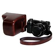 """""""Jamais Ready"""" cuir de protection caméra Brown de cas de couverture de sac pour appareil photo sony nex6Digital"""