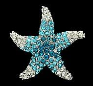 3.8cm Rhinetone ea Blue tarfih Brooch Broach carf Pin
