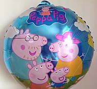 10pcs/lot 45 * 45cm Peppa Pig lámina globo para la fiesta de cumpleaños de la historieta del bebé del globo 18 pulgadas Whole Famil