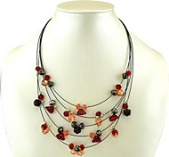 Stylish and Elegant Geometry of Multilayer Plastic Necklace