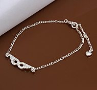 Fashion Silver Plated Anklets