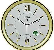 "Timess™ 13""H  Brief Style Roman Raisde Scale Mute Wall Clock"