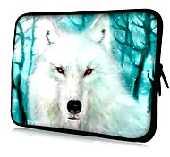 """White Wolf with Red-eyed Pattern Neoprene Sleeve Case for 15.4"""" MacBook Pro/ Pro with Retina Display"""