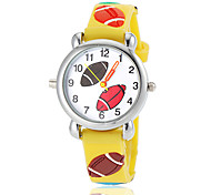 Children's Lovely Rugby Pattern Flashlight LED Light Silicone Band Quartz Wrist Watch (Assorted Colors)