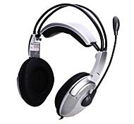 JiaHe USB-820MV Over-Ear Headband Headphone com microfone