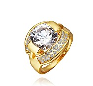 Fashion Women Golden Zircon Fashion Rings(Golden)(1Pcs)