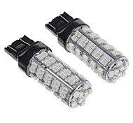 T20 2W 68-LED 200LM Yellow Light LED Bulb for Car(12V,2pcs)