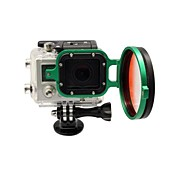 2014 New Arrival camera accessories 58mm Flip Converter for Gopro 3 Housing - Green