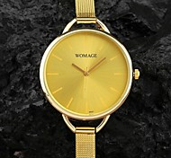 Women's Round Simple Dial Quartz Analog Small Woven Metal Band Casual Wrist Watch (Assorted Colors) Cool Watches Unique Watches