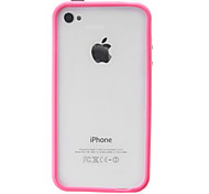 Protective Rose Ultra-slim Bumper Frame with Power Switch Volume Control for iPhone 4/4S