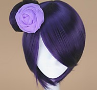 Cosplay Wigs Naruto Konan Purple Short Anime Cosplay Wigs 32 CM Heat Resistant Fiber Female