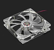Quiet PC Case Fan w/ LED 4Color Light
