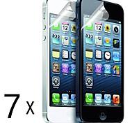 [7 Pack] Qualität Mattblendschutzfolien für iPhone 5/5S
