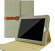 ikodoo® Leather Case with Stand for iPad2/ the New iPad3 / iPad4