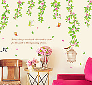 Green Leaves Pattern Wall Sticker(1PCS)