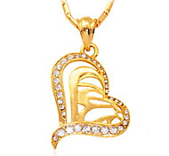 Necklace Pendant Necklaces / Vintage Necklaces Jewelry Party Fashionable Crystal / Rhinestone / Gold Plated Gold 1pc Gift