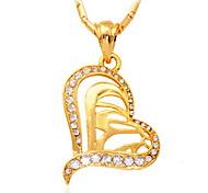 u7® coeurs islamiques charmes pendentif allah bijou cadeau musulman pour les femmes des bijoux plaqué or 18k