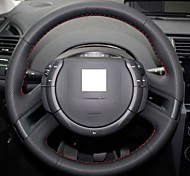 XuJi ™ Black Genuine Leather Steering Wheel Cover for Citroen C4 Picasso 2012 C-quatre